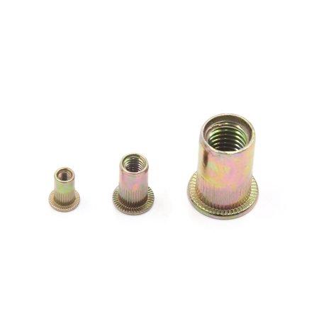 80Pcs Zinc Plated Carbon Steel Rivet Nut Flat Head Insert Nutsert Kit M3 M5 M10 - image 1 de 4