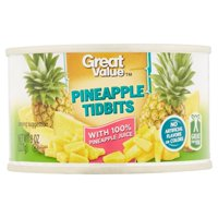 (6 Pack) Great Value Pineapple Tidbits, 8 Oz