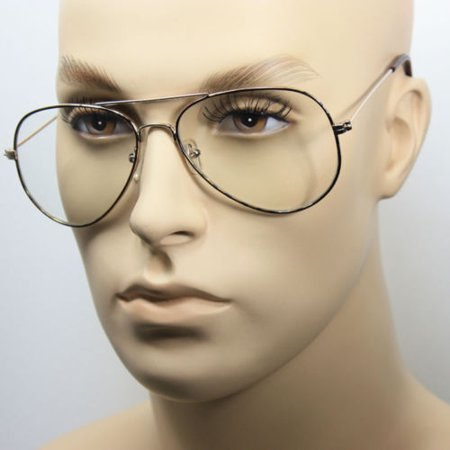 8a1a2baaf28 Clear Lens Aviator Eyeglasses Men Women Gold Black Metal Classic Retro  Vintage - Walmart.com