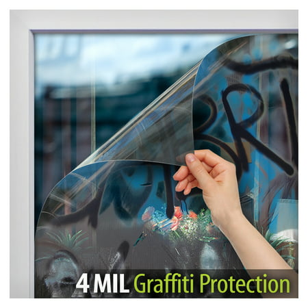 File Protection (BDF AG4M Graffiti Protection 4 Mil Clear Window Film 36in X 12ft by BuyDecorativeFilm )
