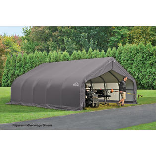 ShelterLogic Peak Style Shelter 18x24x11 Steel Frame in G...
