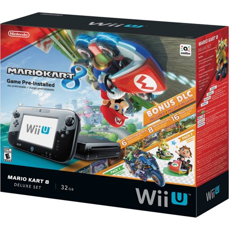 nintendo wii u mario kart 8 console deluxe set. Black Bedroom Furniture Sets. Home Design Ideas