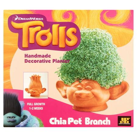 Joseph Enterprises Chia Pet Branch Dreamworks Trolls Handmade Decorative Planter
