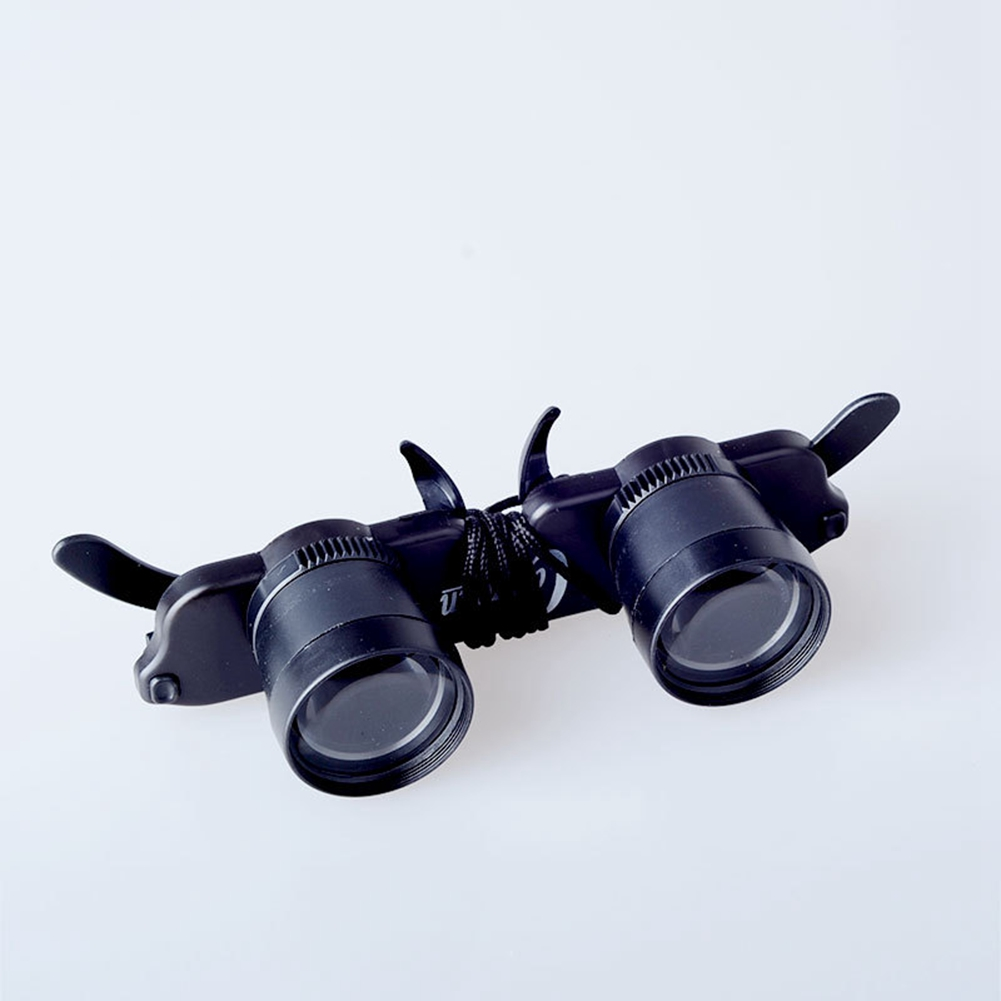 F Fityle Black Magnifying Telescope Binoculars Glasses Style for Fishing Camping