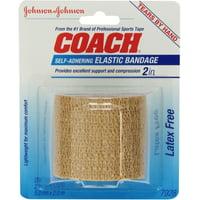 6 Pack - JOHNSON & JOHNSON COACH Self-Adhering Elastic Bandage 2 in x 2.20 Yards