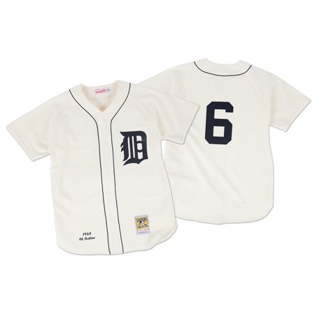 Al Kaline Detroit Tigers Mitchell & Ness Authentic MLB 1968 Button Up Jersey by
