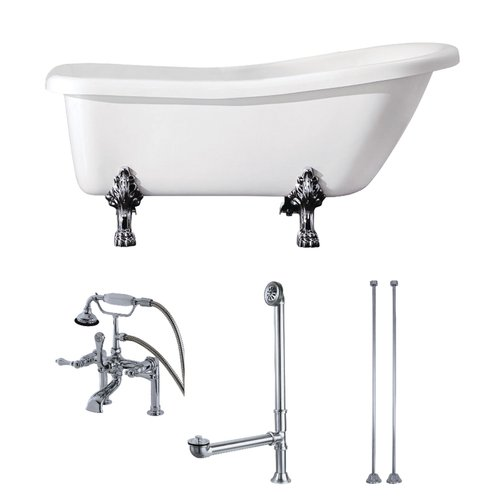 Kingston Brass 67'' x 28'' Clawfoot Soaking Bathtub