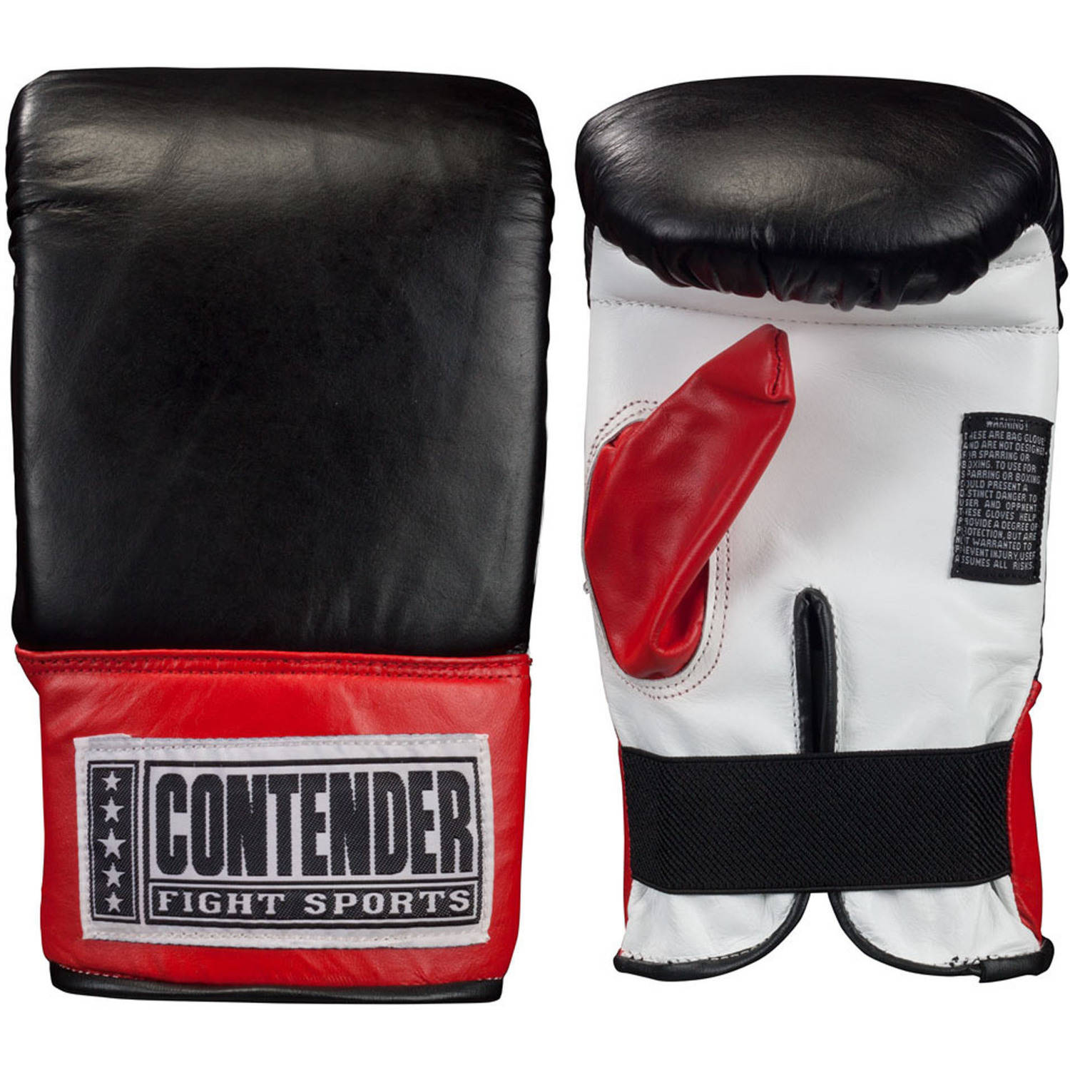 Contender Fight Sports Traditional Style Pro Fight Gloves, Extra Large, Black White Red by Contender