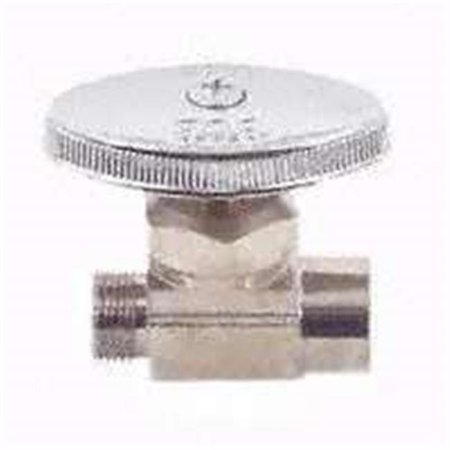 PP20062LF Straight Water Supply Line Valve Chrome, 0.5 x 0.37 In.