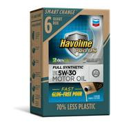 (9 pack) Havoline SMART CHANGE ProDS 5W-30 Full Synthetic Motor Oil, 6 qt.