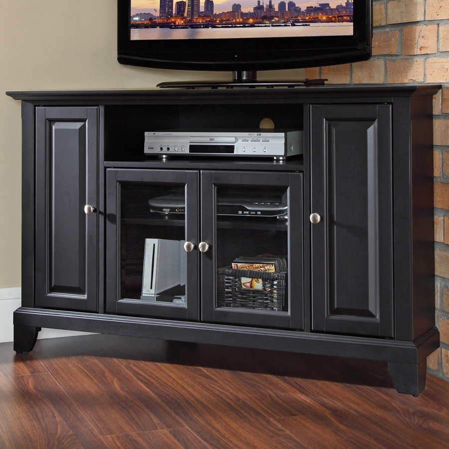 Newport KF10006CBK Wood Corner TV Stand