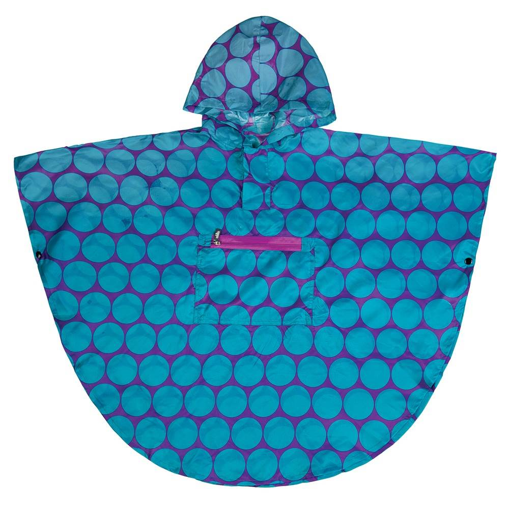 Big Dot Aqua Poncho, 4-7