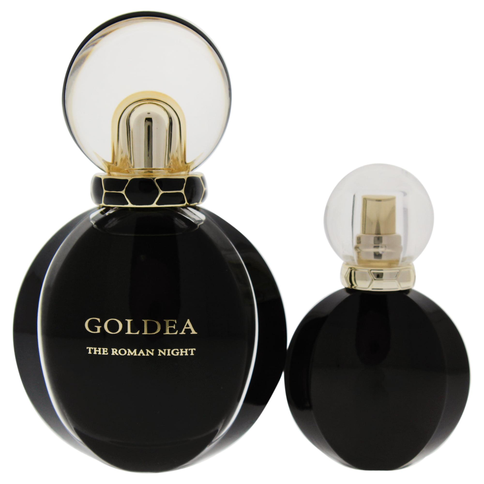Bvlgari Goldea The Roman Night 1.7oz Sensual Eau De Parfum Spray, 0.5oz Sensual Eau De Parfum Spray 2 Pc Gift Set