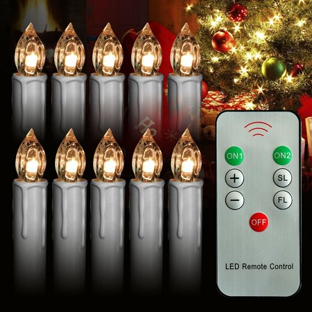 12 pcs led window candles, battery operated taper candle lights.