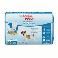 Wee-Wee Disposable Male Dog Wraps
