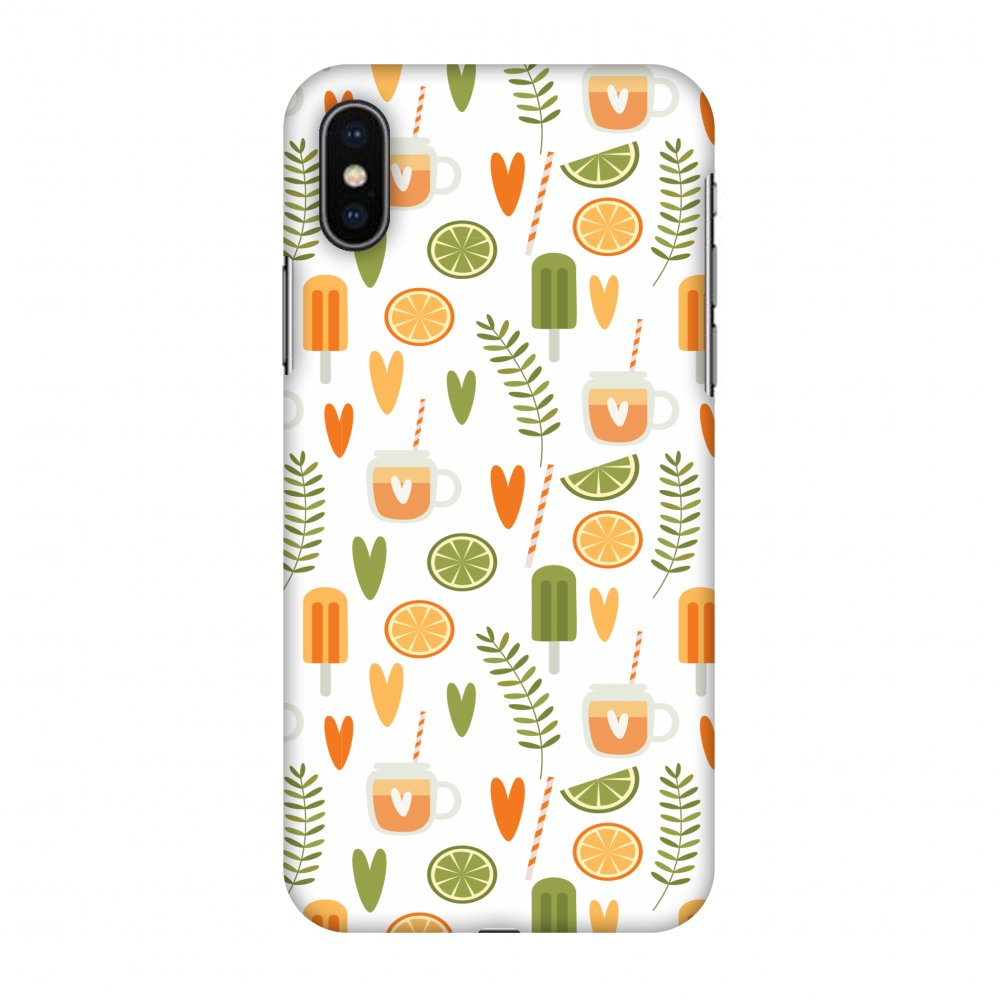 iPhone X Case - Once Upon A Summer, Hard Plastic Back Cover. Slim Profile Cute Printed Designer Snap on Case with Screen Cleaning Kit