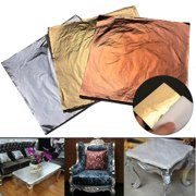 300 Sheets Imitation Gold, Silver and Copper Leaf For DIY Arts, Gilding Crafting, Decoration 5.5X5.5 Inch