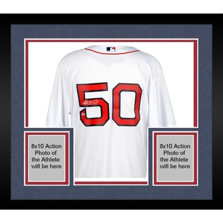 new concept 9165b 6b1f3 Framed Mookie Betts Boston Red Sox Autographed White Replica Jersey -  Fanatics Authentic Certified