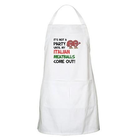 - CafePress - Party Italian Meatballs Shirt Apron - Kitchen Apron with Pockets, Grilling Apron, Baking Apron