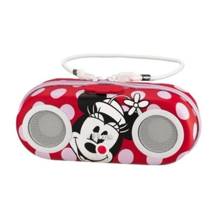 Jensen Ipod Docking System - Kiddesigns DM-M13 Minnie Mouse Water Resistant Portable Stereo Ipod Dock