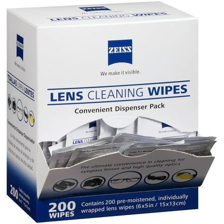 Zeiss Pre-Moistened Lens Cleaning Wipes (200 ct.) (Carl Zeiss Lens Cleaner)