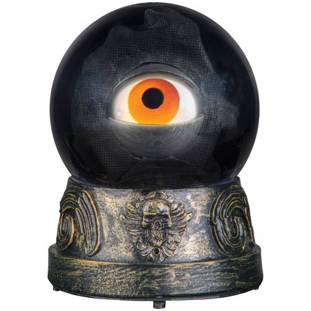 Animated Eyeball Crystal Ball Halloween Decoration - Blinking Halloween Eyeballs