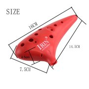 MIXFEER 12 Hole Alto C Ocarina Vessel Flute ABS Material Sweet Potato Shape with 2 Protective Bags Musical Gift for Beginners