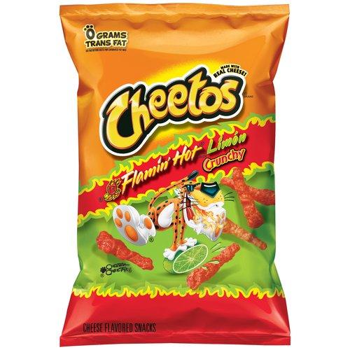 Cheetos Flamin' Hot Limon Cheese Crunchy Flavored Snacks, 9.75 oz