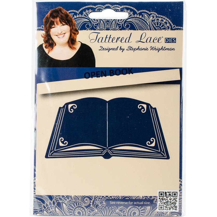 Tattered Lace Metal Die-Open Book