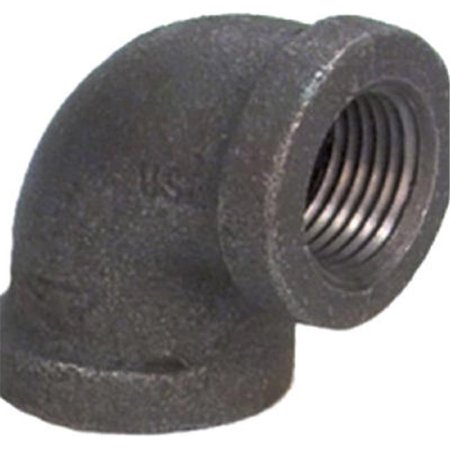 8700123857 1.25 in. Malleable Iron Pipe Fitting Black 90 Degree - Elbow Black Iron