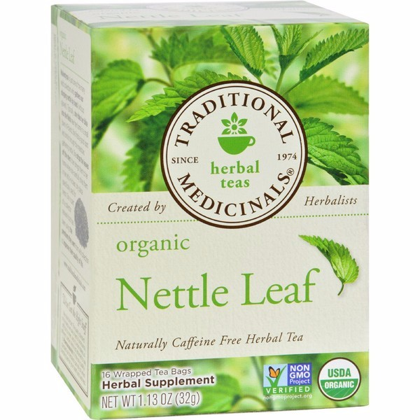 Traditional Medicinals Organic Nettle Leaf Herbal Tea - 16 Tea Bags - Pack of 6