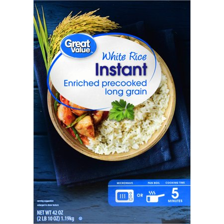 (3 Pack) Great Value Instant White Rice, 42 oz
