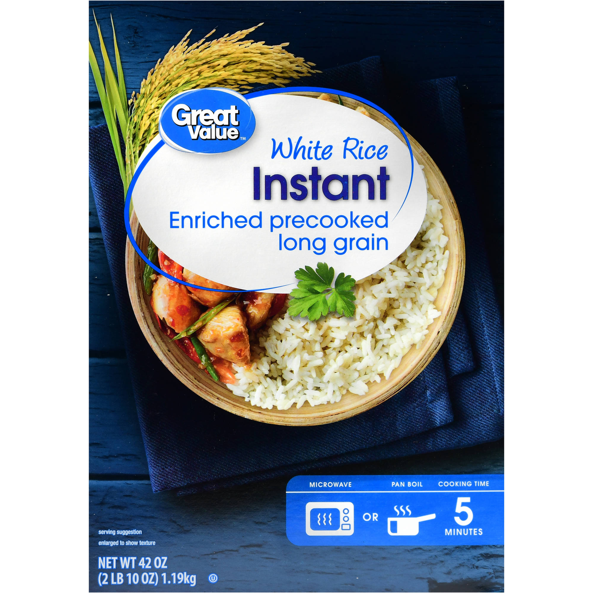 (2 Pack) Great Value Instant White Rice, 42 oz