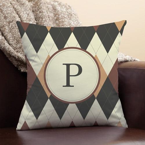 Personalized Argyle Pillow