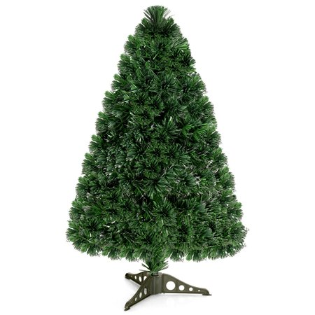 Costway Pre-Lit Fiber Optic Artificial PVC Christmas Tree Tabletop 3Ft ()