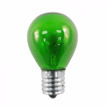 Norman Lamps 10S11N-130V-TG - 130V, 10W, S11 Miniature Light Bulb, Transparent Green (Pack of 10) (130v Miniature)