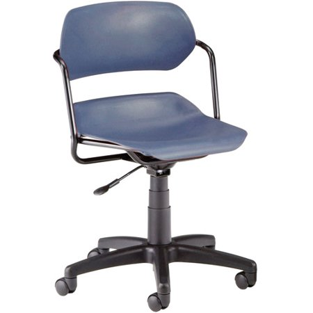 ofm armless swivel task chair black frame