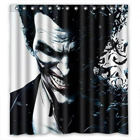 DEYOU Batman Joker Shower Curtain Polyester Fabric Bathroom Size 66x72 Inches