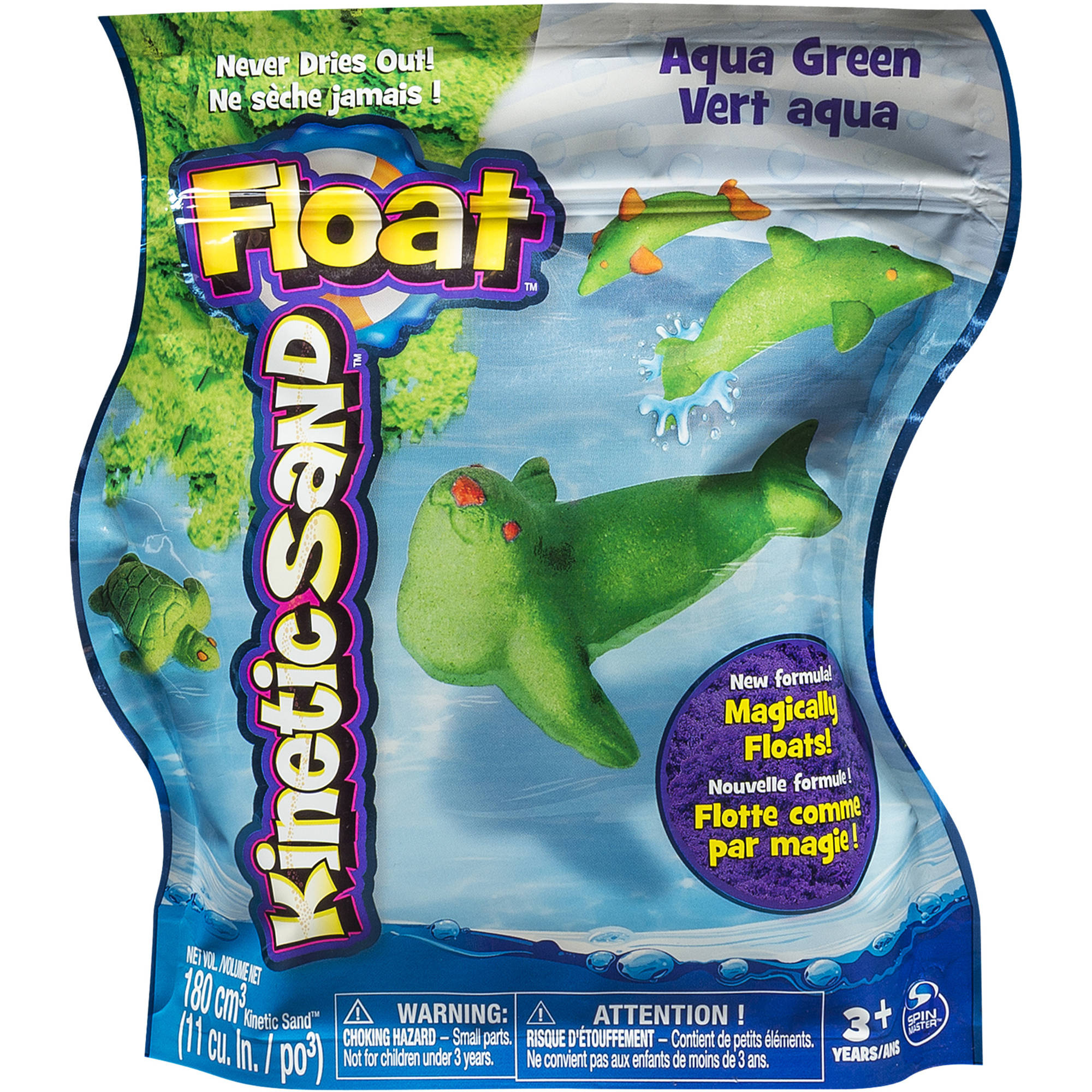 Kinetic Sand Float, 1 lb, Aqua Green