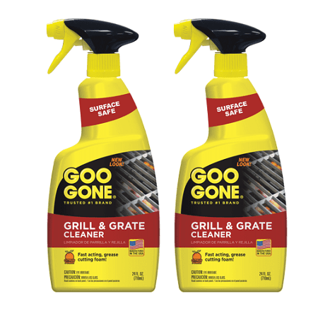 (2 pack) Goo Gone Grill & Grate Cleaner and Degreaser, 24 fl. oz.