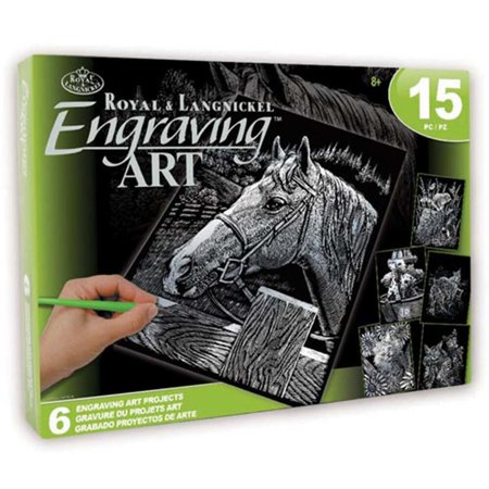 Royal & Langnickel Engraving Art Activity Set - 6 Projects, 15pc - Cardboard Art Projects