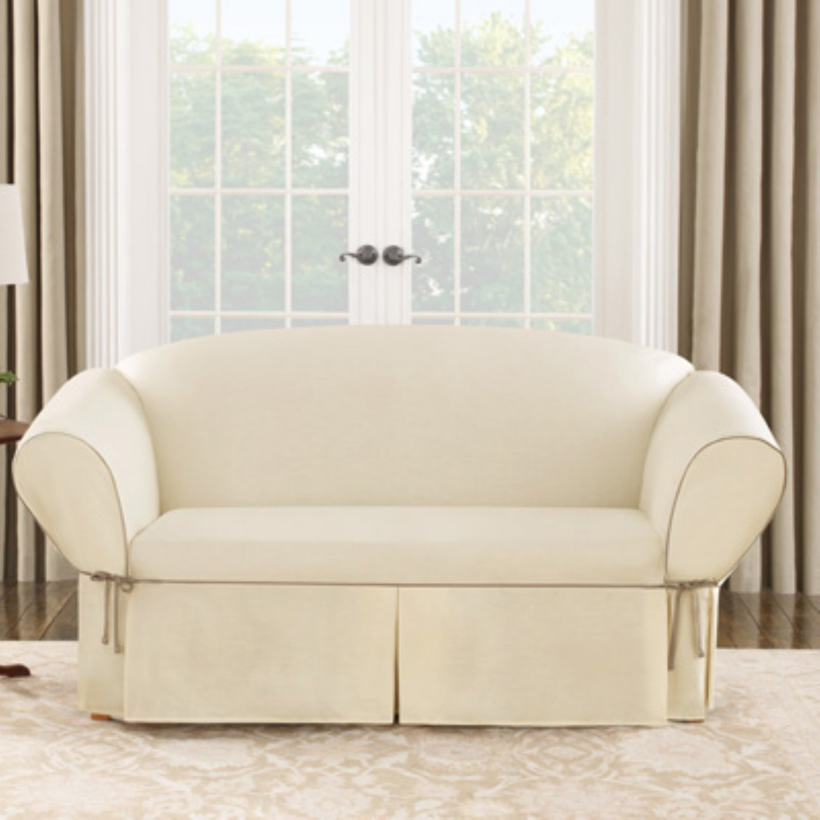Sure Fit Cotton Duck Loveseat Cover Walmartcom