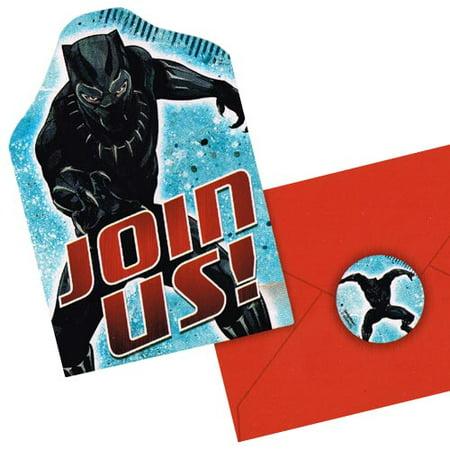 Black Panther Invitation Set w/ Envelopes (8ct) (Movie Theater Invitations)