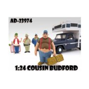 """""""Cousin Budford Trailer Park"""" Figure For 1:24 Scale Diecast Model Cars by American Diorama"""