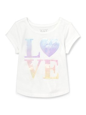 6d0c4772f Product Image The Children's Place Short Sleeve Rolled Sleeve Graphic Top  (Baby Girls & Toddler ...