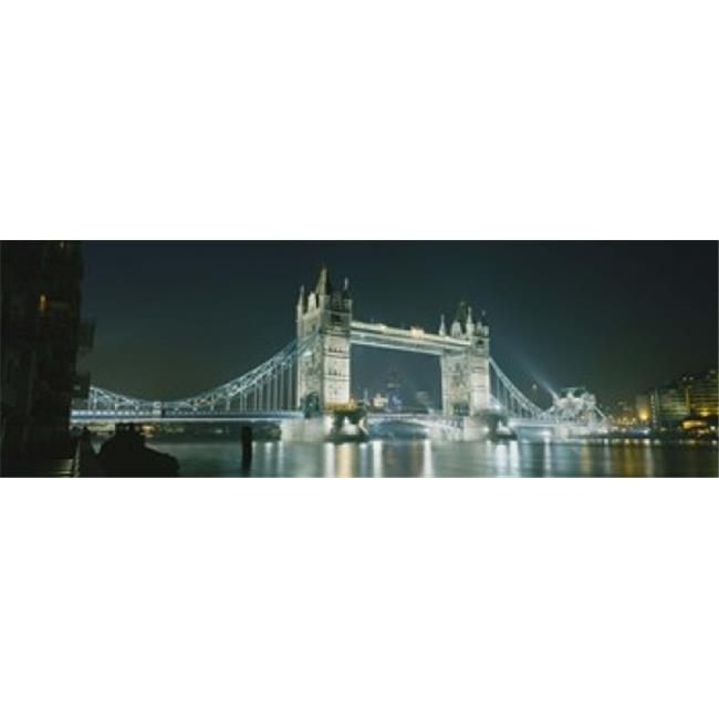 Panoramic Images PPI22900L Low angle view of a bridge lit up at night  Tower Bridge  London  England Poster Print by Panoramic Images - 36 x 12 - image 1 de 1