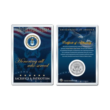 United States AIR FORCE Emblem OFFICIAL JFK Half Dollar US Coin PREMIUM HOLDER