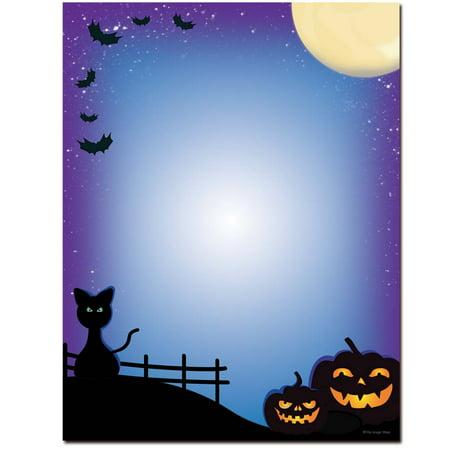 Halloween Computer Paper (All Hallows' Eve Halloween Letterhead Laser & Inkjet Printer)
