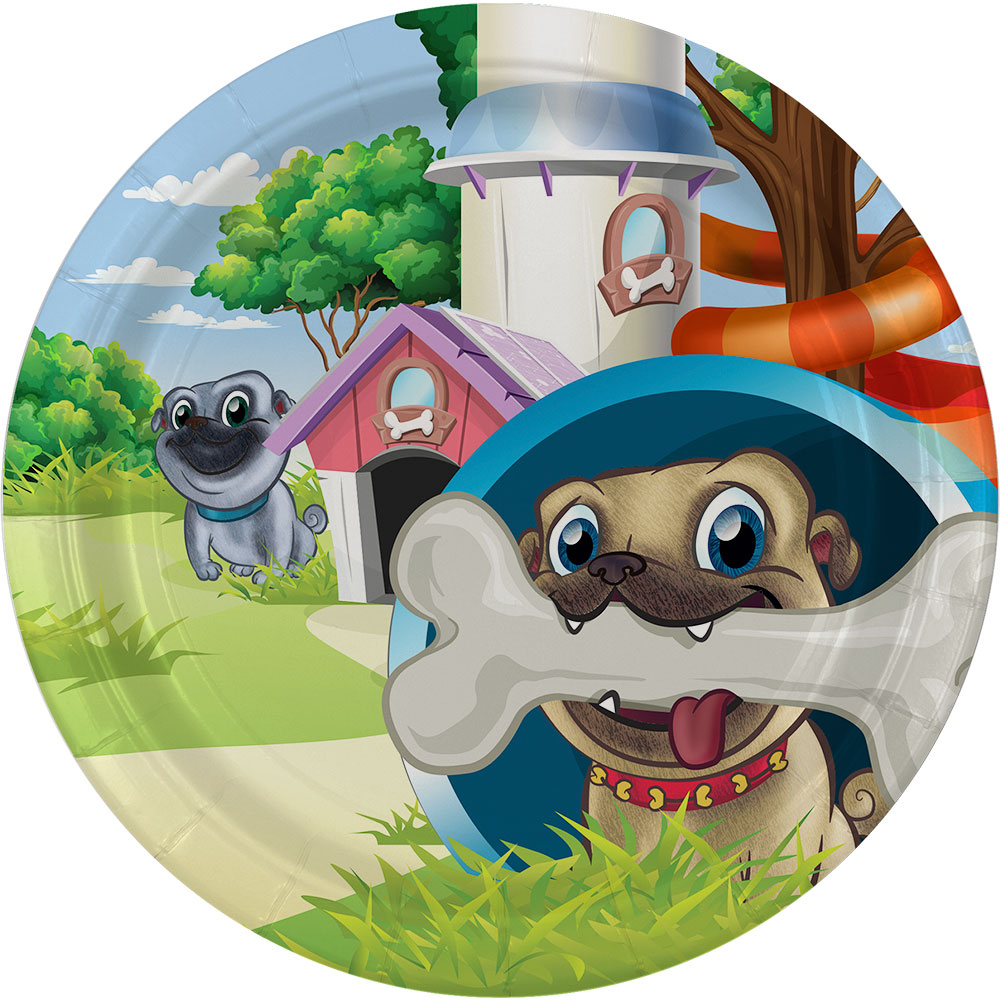 """Pug Pals 9"""" Lunch Plate (8)"""