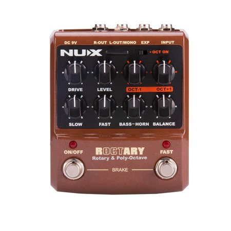 NUX Roctary force guitar effects pedal Rotary Speaker Simulator and cabinet polyphonic Octave effect 2 in